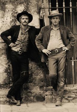 Lawrence_Schiller_Paul_Newman_Robert_Redford_Butch_Cassidy_Sundance_Kid_Iconic_Standing_1968
