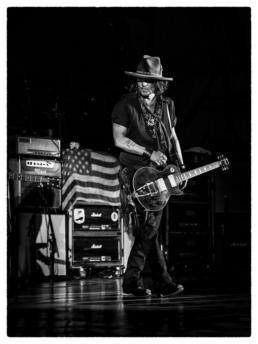 Johnny Depp in Concert with Aerosmith