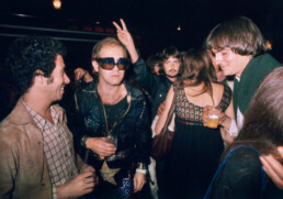 david geffen, elton john, carly simon, and james taylor 1974