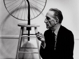 marcel duchamp and bicycle wheel 1963
